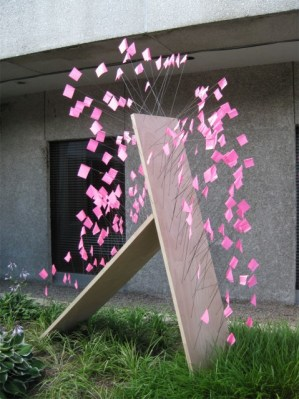 Pink Flags sculpture