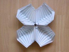 Metal Shelf Hanger Sculpture White