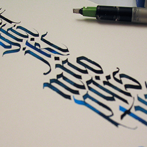 Gentle Gothics, Calligraphy with Alice Young