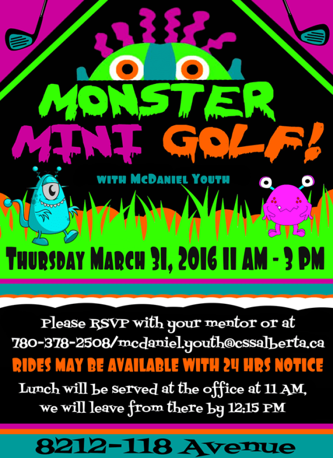 Monster Mini Golf - McDaniel Youth Program