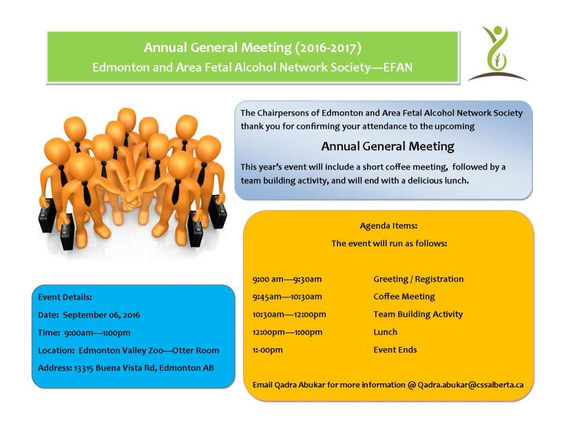 AGM Agenda and Location 2016