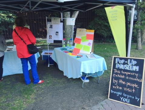 Neighbourhood pop-up exhibits are an opportunity for citizens to contribute their own stories.