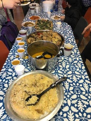 A feast at the Kurdish gathering.