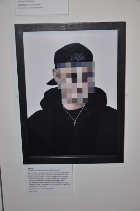 "Picture from ""Bristol People"", portrait of graffiti artist Banksy, who is from Bristol."