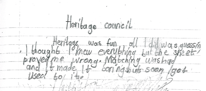 A response from a City Hall School student