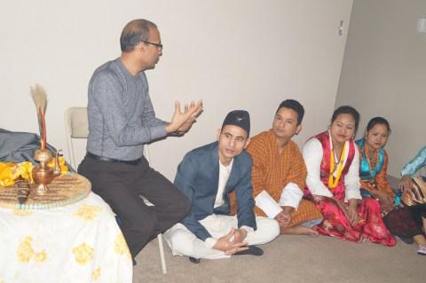 Shiva Chapagai (far left).