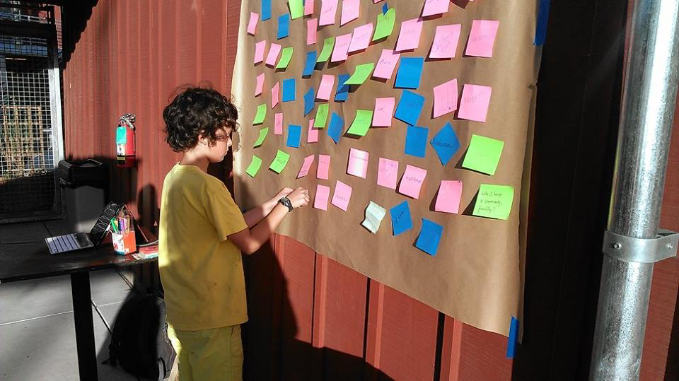 Young resident sharing how being a resident of the Tannery Arts Center makes him feel