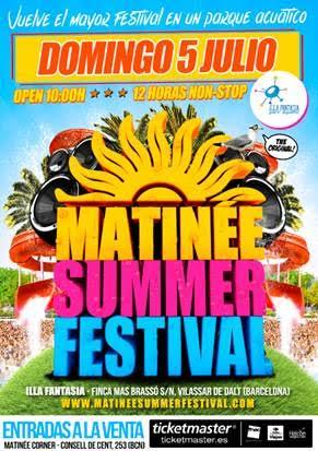 cartel-matinee-summer-festival1 Matinée Summer Festival el 5 de julio en Barcelona