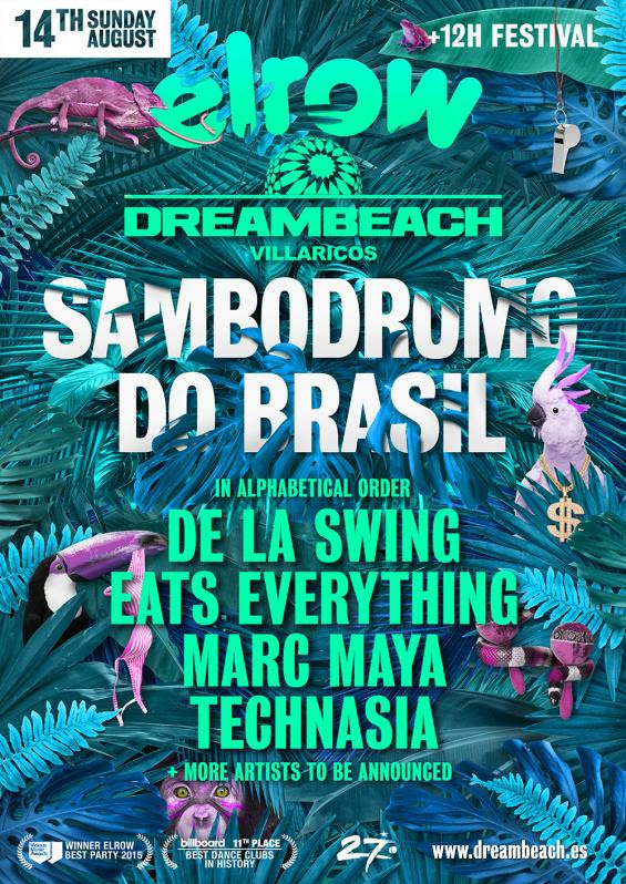 avance-elrow-dreambeach-EDMred Elrow avanza su line up para Sambodromo do Brasil en Dreambeach 2016
