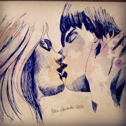 Kiss blue