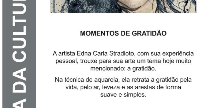 Momentos de Gratidão: autorretratos da aquarelista Edna Stradioto reverenciam a arte e a vida