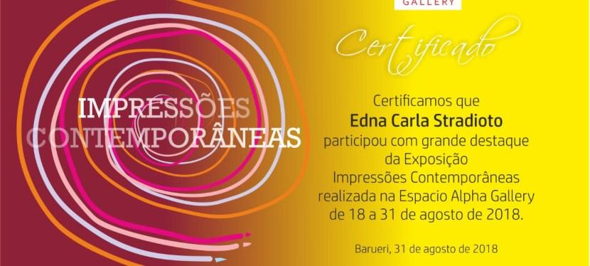 Certificate: Exhibition at Espacio Alpha Gallery