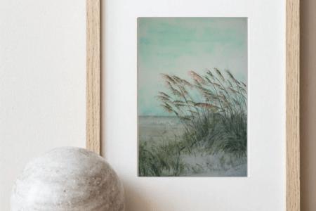 O título da aquarela é Capim dos Pampas no Mundo porque essa é o tipo de paisagem que pode ser encontrado com o Capim dos Pampas em qualquer lugar do mundo.