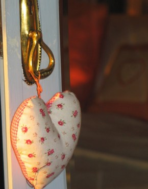 A heart in the Pink room