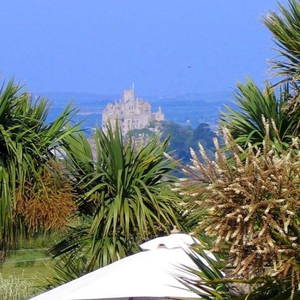 Ednovean Farm's garden overlook St Michael's Mount