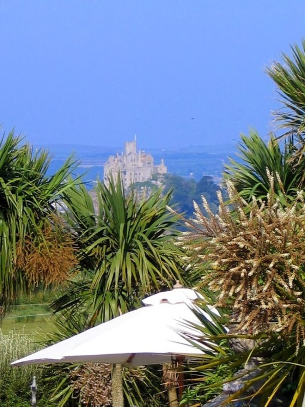 Ednovean Farm's garden overlook St Michael's Mount