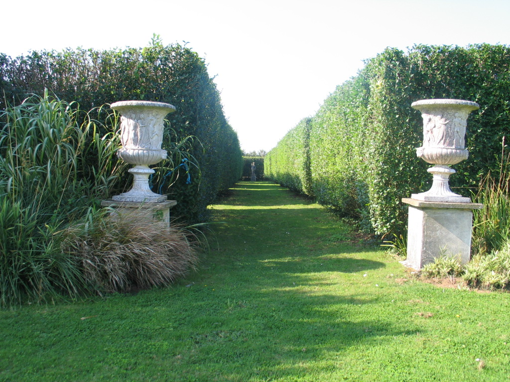 A long vista through the Italian Garden at Ednovean Farm