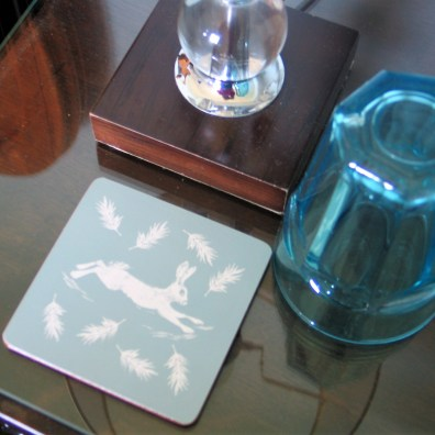 Bedroom detail - coaster and water glass