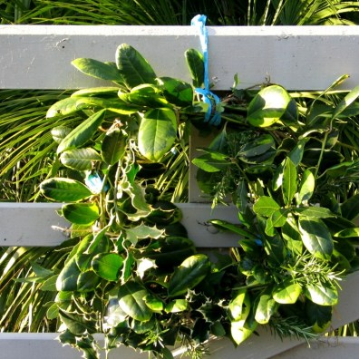 wreath and baler twine