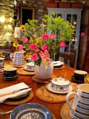 Summer Breakfast table