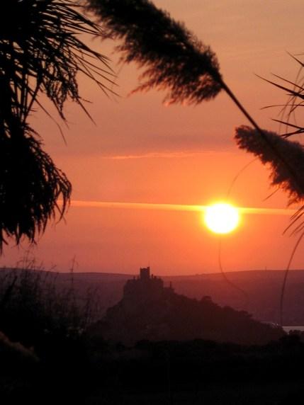 Sunset over St Michael's Mount