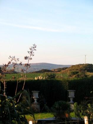 The hills beyond the garden