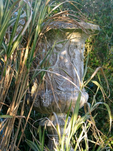urn and grasses