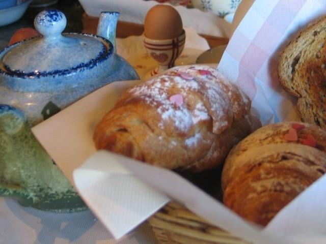 Croissants in basket