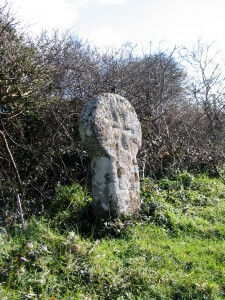 Nun Careg Cross - ancient cornwall revealed just beside the road on the Penwith Tour