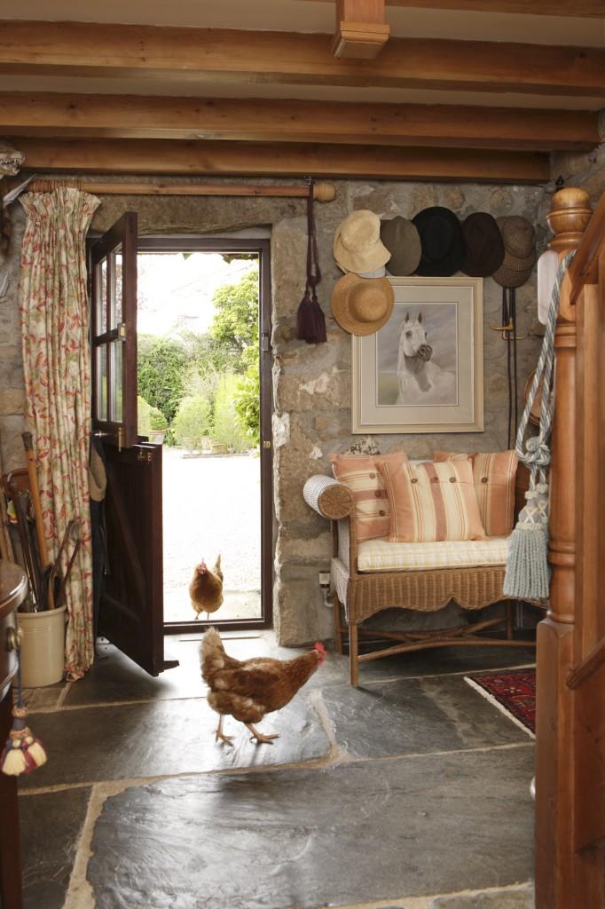 Free range hens atmospheric farmhouse Ednovean Farm