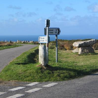 Cornwall sign post of ages
