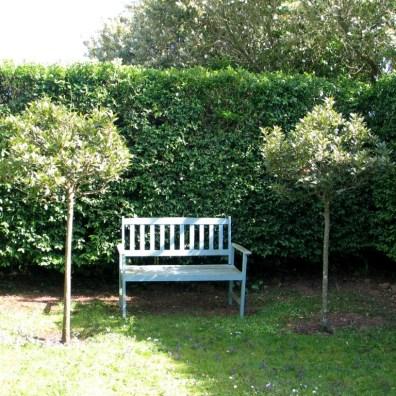 A formal garden bench