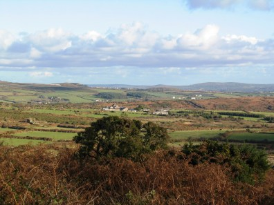 View over the heathland of West Penwith