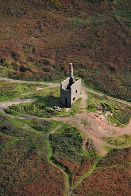 Cornish tin mine engine house