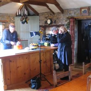 Filming at Ednovean Farm