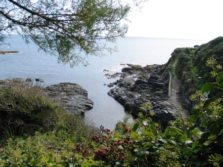 Looking down into part of Prussia Cove
