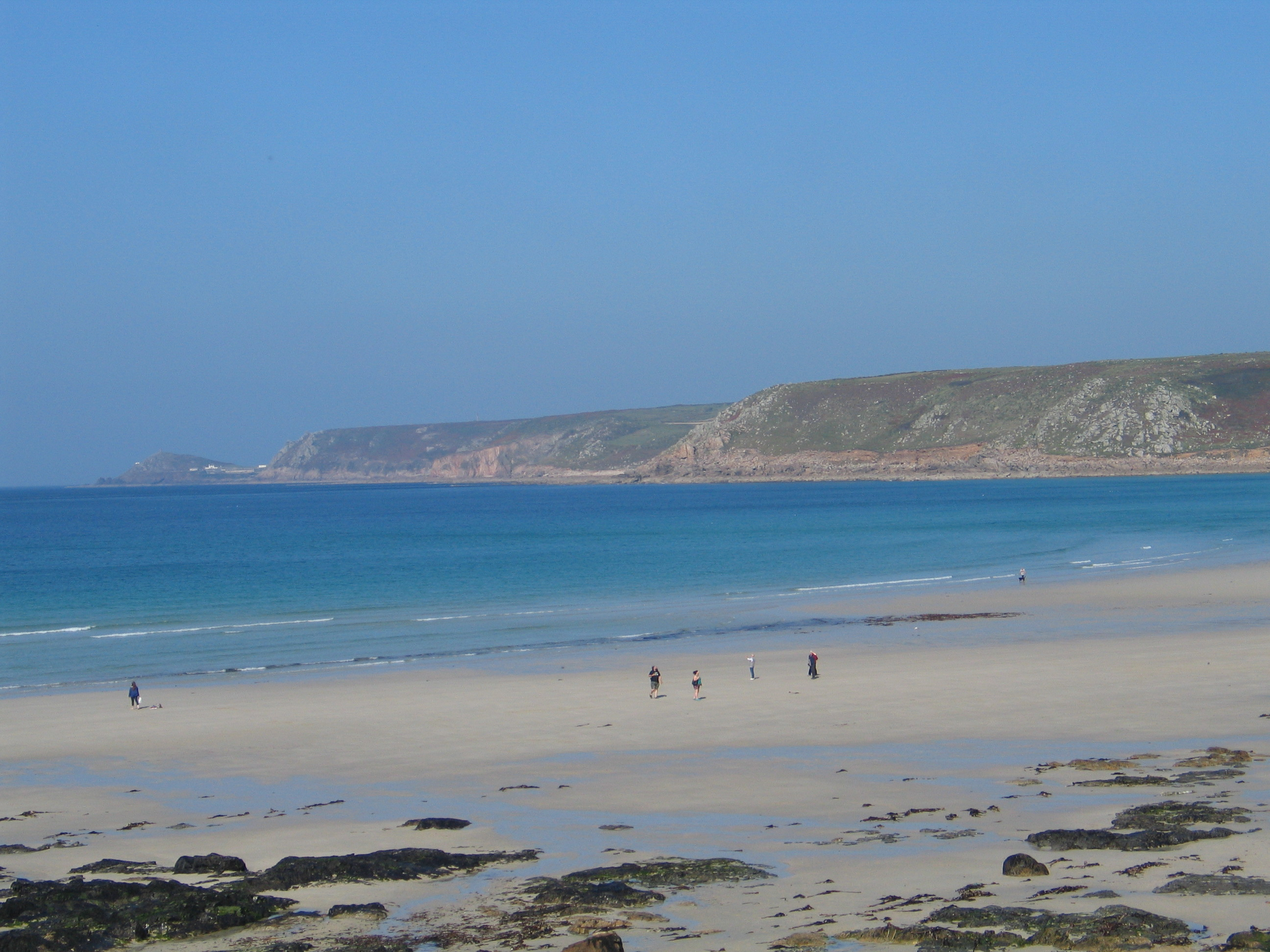 Sennen Cove West Cornwall a white sandy bay