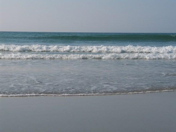 Low tide on a sandy beach