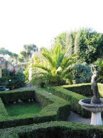 Evening courtyard