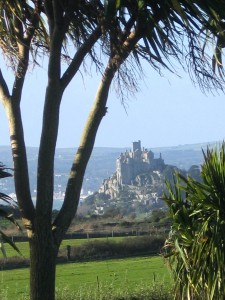 A view from Ednovean Farm's Garden to St Michael's Mount