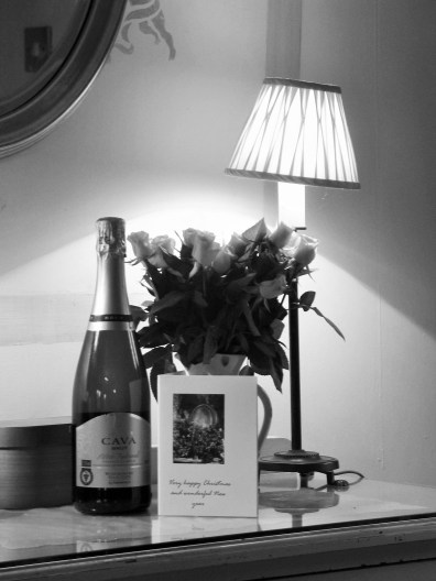 For new year I added a complimentary bubbly to go with our usual roses