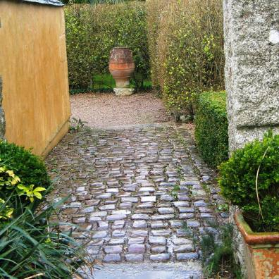 Ednovean Farm's granite sett entrance path