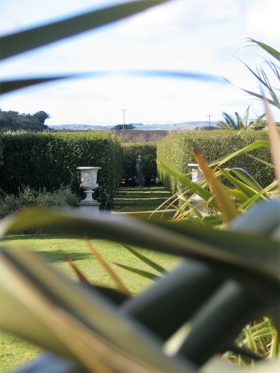 A view to the Italian Garden from the shelter belt