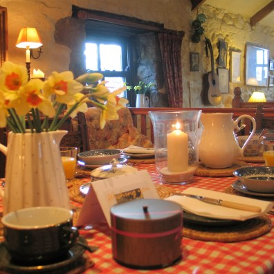 small Easer gifts at Ednovean Farm breakfast table