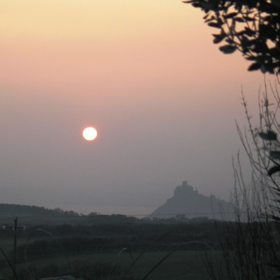 There have been some sultry sunsets over Mounts Bay This week with the sun like a huge red ball
