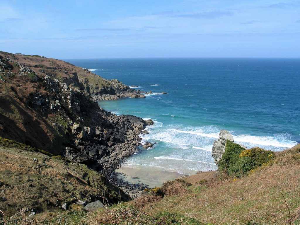 A secluded hidden cove in West cornwall near to Zennor
