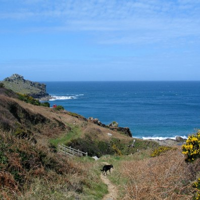 The coastal footpath is easy to follow