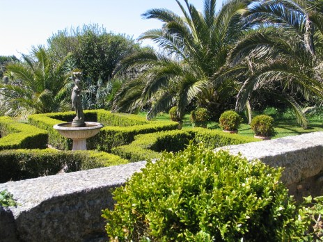 Parterre at Ednovean Farm in April