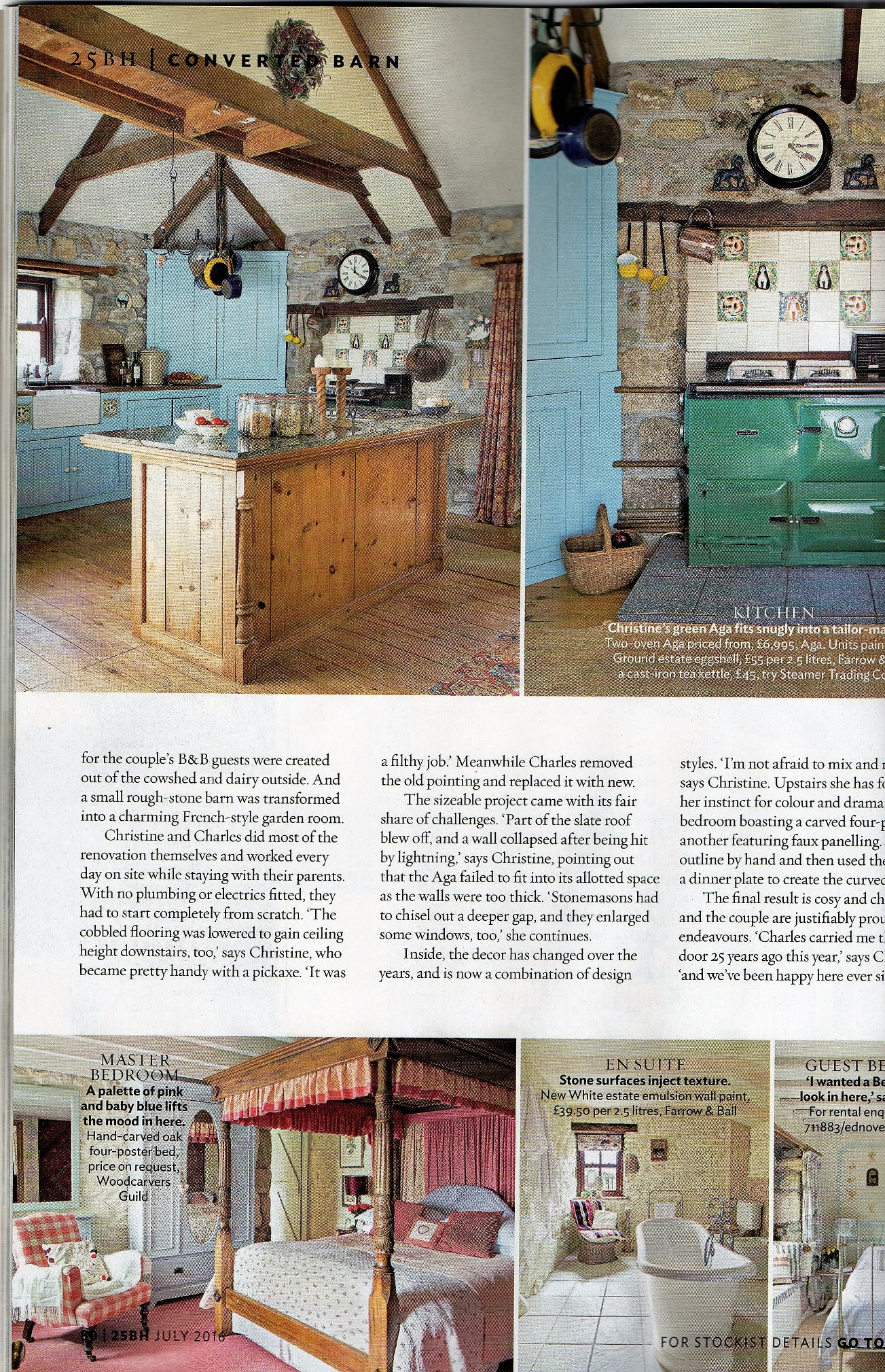 Ednovean Farm has featured in may glossy magazines