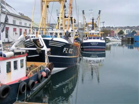Fishing boats in penzance